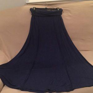 Max Studio Blue Maxi Skirt
